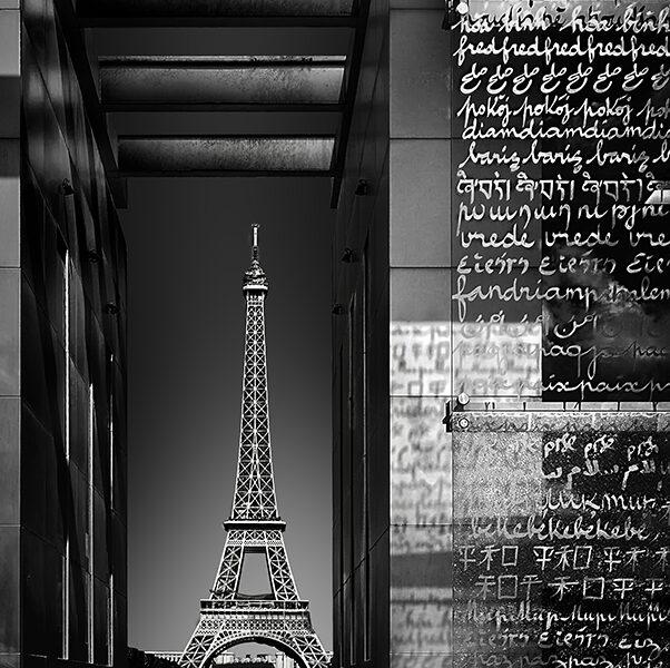 Francia París Tour Eiffel eb blanco y negro