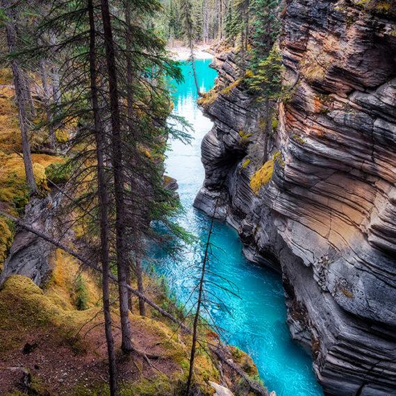 Canadá Athabasca Canyon Río de Vida