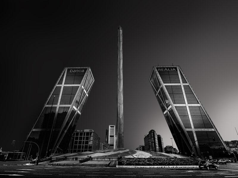 Madrid Arquitectura Torres inclinadas Bankia Realia