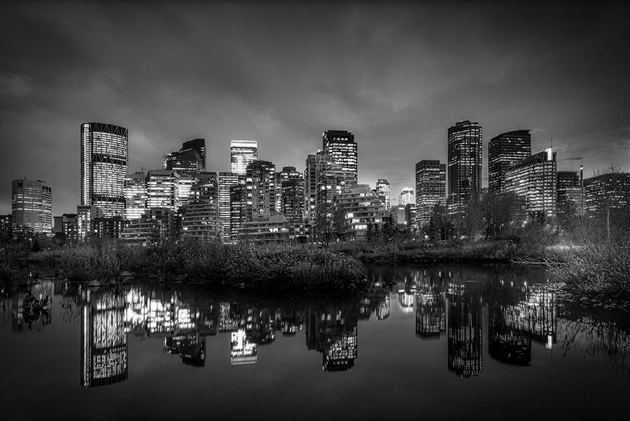 Imagen del skyline de Calgary, en Canadá