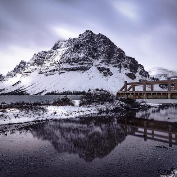 Canadá Bow Lake Amanecer