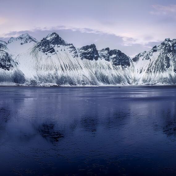Islandia Stokksnes al atardecer