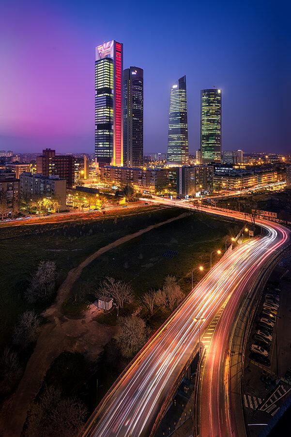 Fotos de Madrid Atardecer en las Cuatro torres