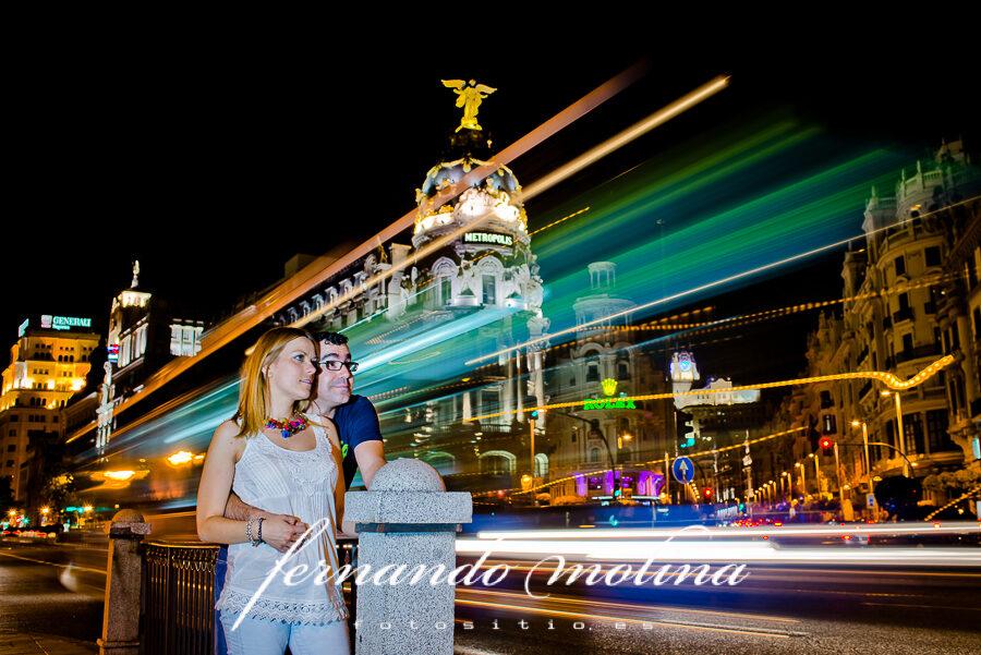 Fotografías de pareja en Madrid - Bea y Antonio vinieron a Madrid sólo para las fotos.