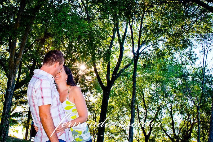 Fotografías en pareja - Raquel y Enrique en el Parque Polvoranca de Leganés.