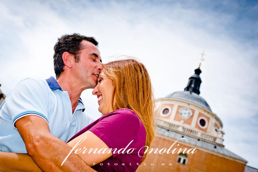 Fotografías de pareja - Esther y Carlos en el Palacio Real de Aranjuez.