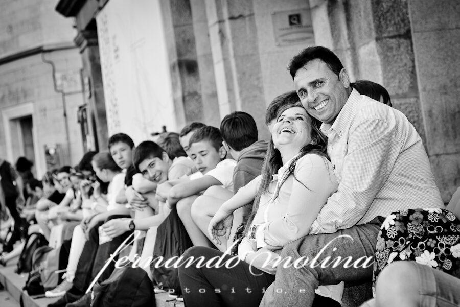 Fotos de pareja originales: Tomás y Daniela en el acueducto de Segovia